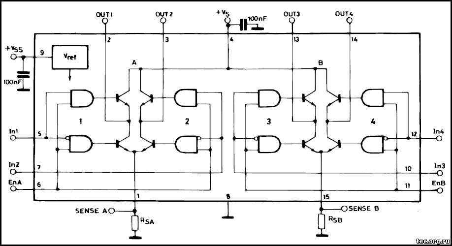 Структурная схема L298N