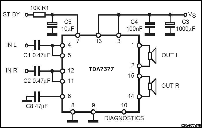 TDA7375 circuit diagram