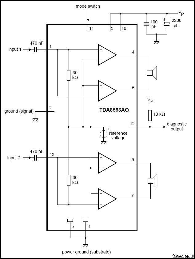 Блок-схема и типовая схема