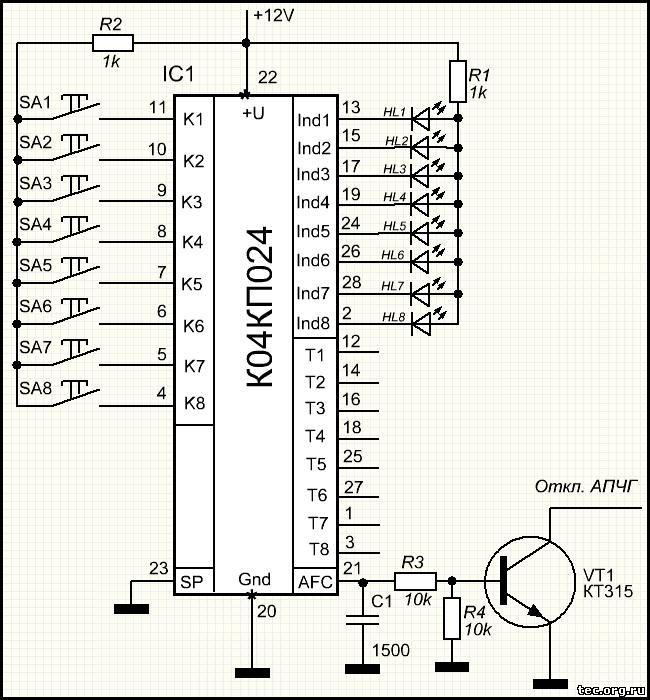 К174кп3 схема включения