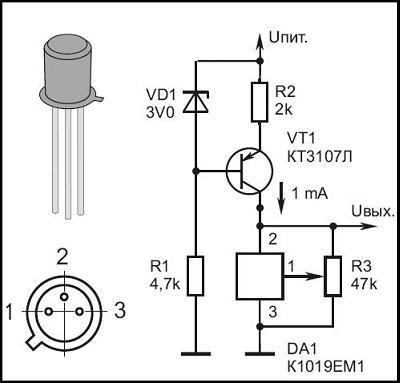 К1019ЕМ1 - Термодатчики