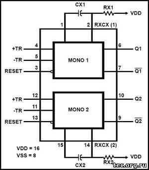 HCF4098BE DATA SHEETS PDF