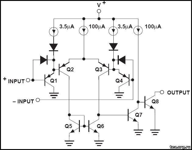 схема одного канала LM339N